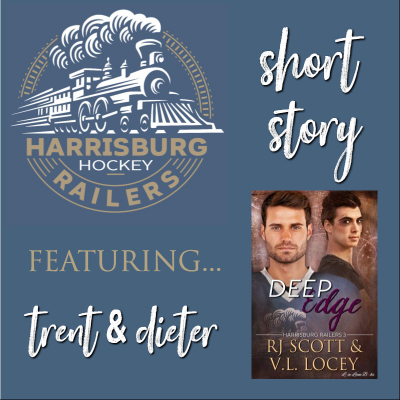Railer's Short, Deep Edge, Harrisburg Railers, RJ Scott, V.L. Locey, MM romance